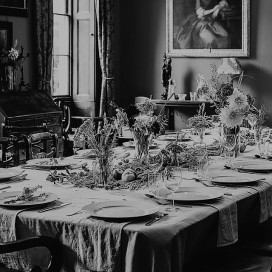 Manor house banquet table