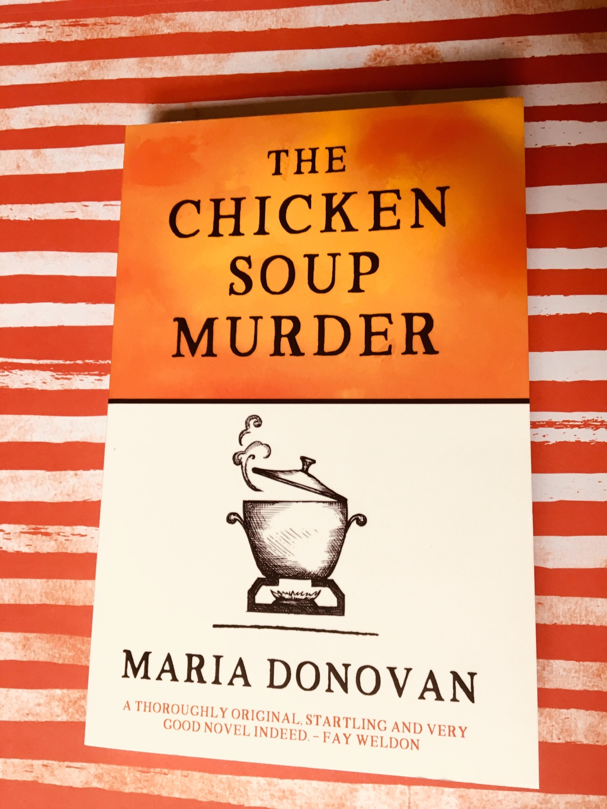 Review of The Chicken Soup Murder. Book by Maria Donovan. Review and photo by Rita E. Gould