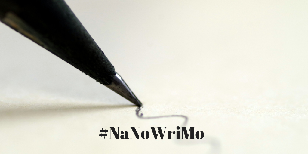 """Taking the NaNoWriMo Plunge"". Text by Rita E. Gould"