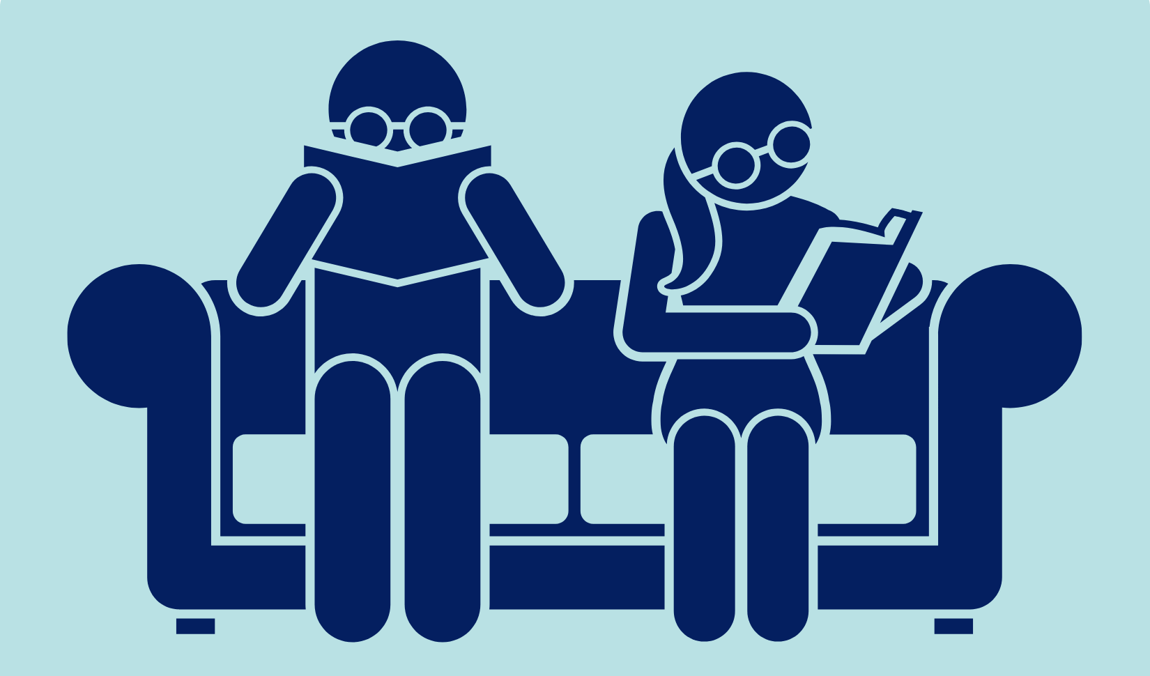 Reading together. Image designed in Canva by R. Gould